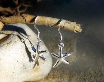 """Sterling silver starfish dangle earrings """"Silver Star Earrings"""""""