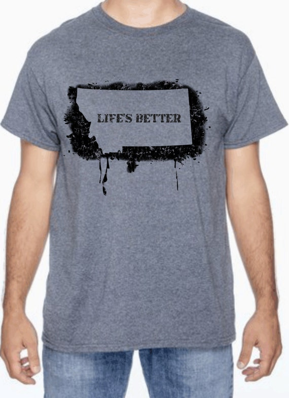 Custom montana silk screened t shirt for Custom silk screen shirts