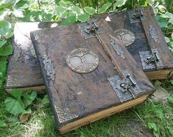 5 Books of shadows HERBS, STONES, Oil Recipes Book of Shadows  Rustic Book of Shadows old spells Witch Book antique style Old book blessing