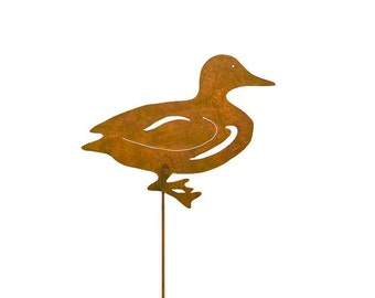 Duck Metal Yard Stake, Garden Art GS85