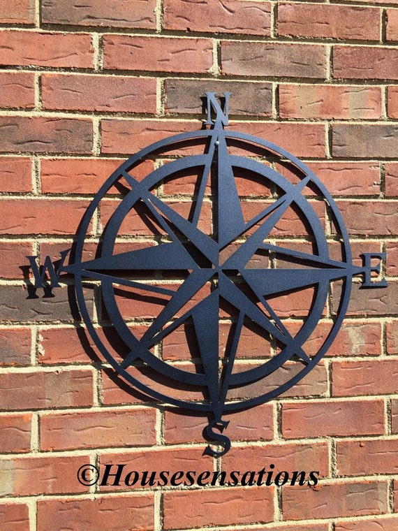 Outdoor Wall Decor Nautical : Nautical compass wall art metal by