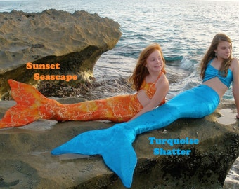 Monofin Mermaid Tail. Swim tail. 16 Colors. Child to Adult Swimmable Mermaid Tail Outfits