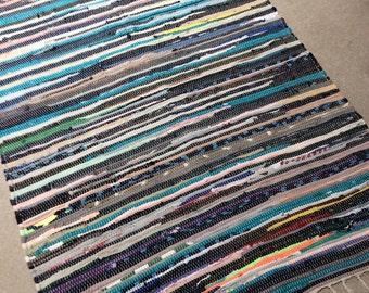 rag rug chindi rug hippie rug colorful rag rug boho rug
