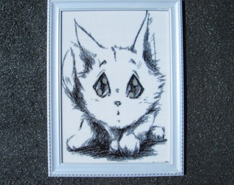 Cute Kitten. Beading. Exclusive