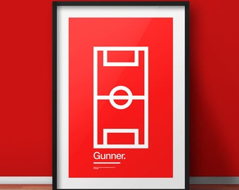 """Gunner - 11x17"""", 18x24"""", 24x36"""" print"""
