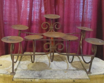 Rustic Iron Eight Candle Holder