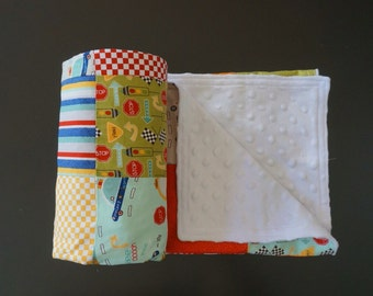 SALE* Boy Patchwork Minky Blanket