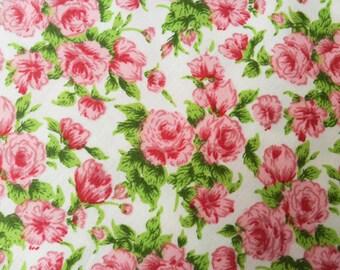Liberty Roses Cotton Print Fabric 1/2 metre