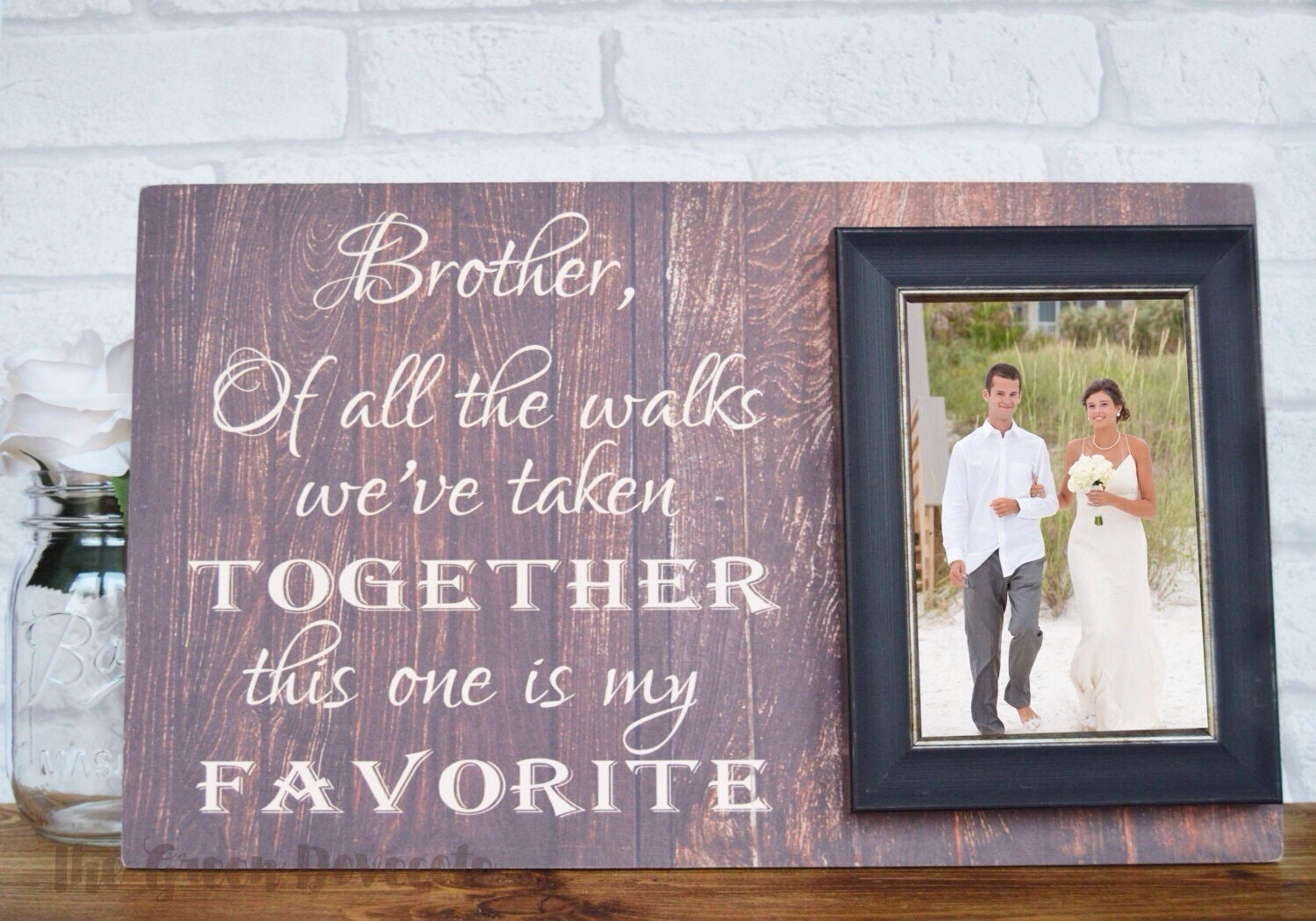 Brother Wedding Gift: Brother Of The Bride Gift Personalized Brother Wedding Gift