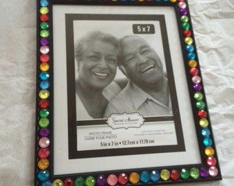 Picture Frame with Rhinestone Border, 5x7
