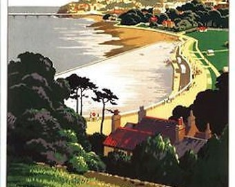 Vintage GWR Clevedon Somerset Railway Poster A3/A2/A1 Print