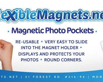 Magnetic Photo Pocket For 4x6 Photos from Flexible Magnets