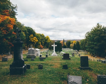 Autumn in the Cemetery {photo print}