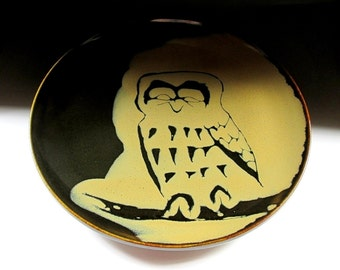 HUGE Nakamori Fujio Owl Platter, Koedo