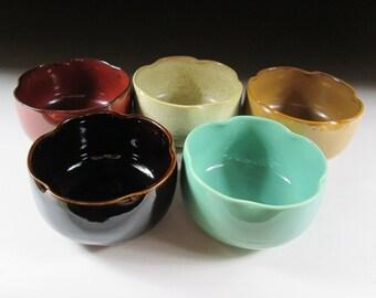 Set of Five Mino-ware Kobachi Bowls