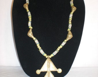 Two pyramid necklace