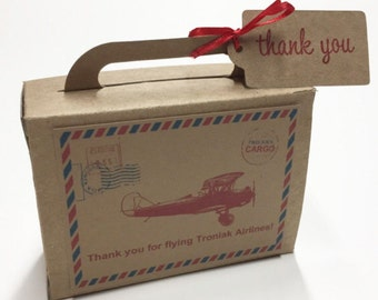 Precious Cargo Suitcase Favor Box Baby Shower Favors Suitcase Favors Kraft Coloured Large Size 30 Included