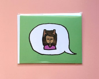Emoji Cards! - Head Massage - Green Background
