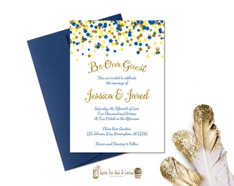 Beauty and the Beast Wedding Invitation Rustic Chalkboard