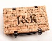 Personalised Hamper Gift Wedding Hamper Gift Fortnum  Mason Style Wicker Picnic Basket