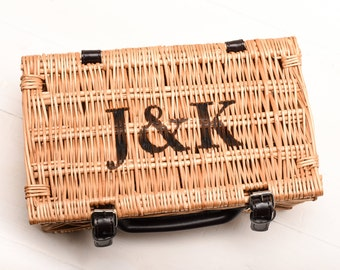 Personalised Hamper Gift, Wedding Hamper Gift, Fortnum & Mason Style, Wicker Picnic Basket