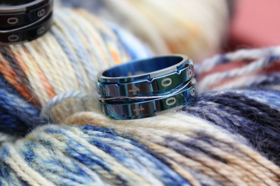 Knitting Counter Ring : Blue size knitting counter ring new tool