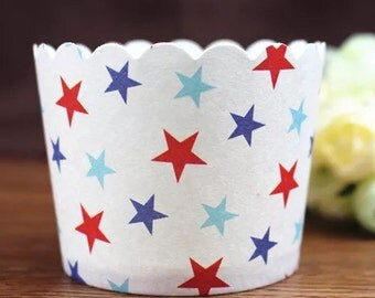 20 pcs Stars Paper Muffin Cups Baking Cups Candy Nut Popcorn Cups Ice-cream Cups
