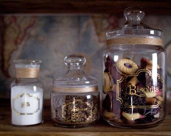 Set of Three Apothecary Jars