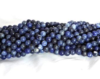 8mm Sodalite Round Beads