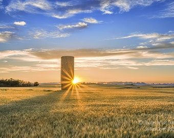Silo Sunset - Landscape Photography - Fine Art Print