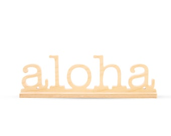 Aloha Natural Birch Plaque