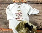 Gobble Til You Wobble Thanksgiving bodysuit or t-shirt, first thanksgiving, baby's first thanksgiving, thanksgiving outfit