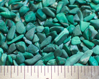 Malachite Nuggets - Small - 100% Natural Without Fillers