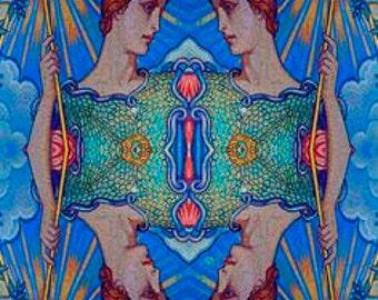 Minerva Goddess Of Wisdom Surreal Pop Art 2 - Giclee Print