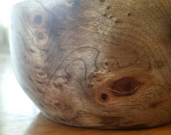 Myrtle wood bowl