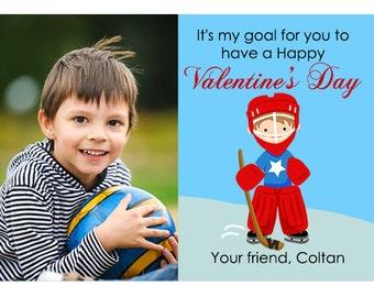 hockey school valentines goalie school valentines photo valentine cards classmate valentines sports