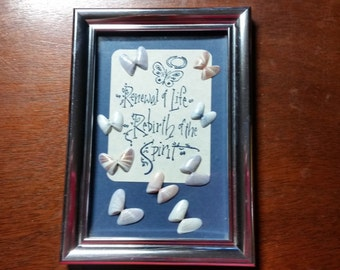 Hand-Stamped Coquina Shell Collage - Renewal of Life