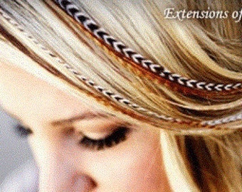 """Feather Hair Extension Beautiful Natural Remix 6""""-12"""" Feathers for Hair Extension Includes 2 Silicon Micro Beads."""