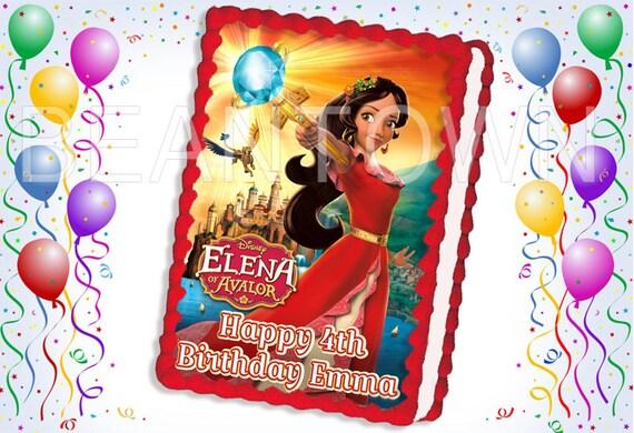 Elena Of Avalor Custom Photo Edible Cake Topper By