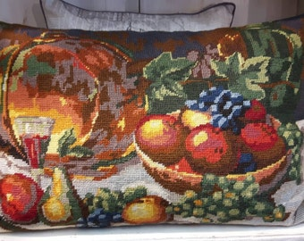 Embroidery in warm Autumn colors - painting like