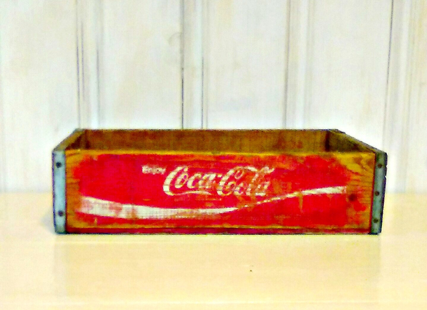 rouge coca cola en bois caisse coke boite par lindafrenchgallery. Black Bedroom Furniture Sets. Home Design Ideas