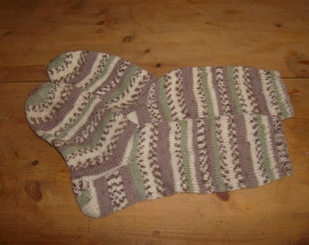 mottled hand-knitted socks Gr. 36-37