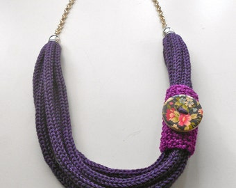 Purple Tricot Necklace
