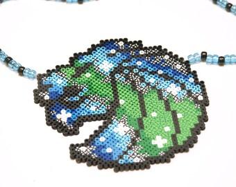 seven Lion Perler Necklace V2