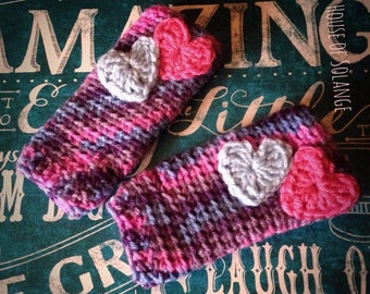 Toddler arm warmers, Arm warmers, Toddler fingerless gloves, Hearts