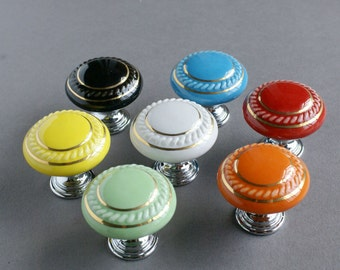 dresser knobs door knobs drawer knobs  european knobs pastoral style ceramic knobs door knobs 107