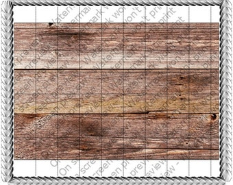 Wood Grain Background - Edible Cake and Cupcake Topper For Birthday's and Parties! - D257