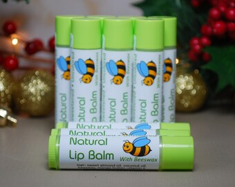 Natural, Unflavored Lip Balm, Beeswax Lip Balm