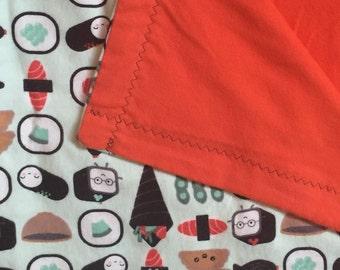 Happy Sushi Baby Blanket