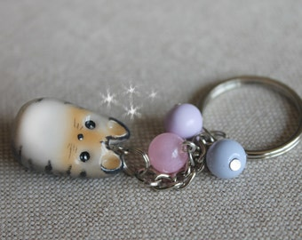 Kitty Charm Cute Little Cat Keycahain Polymer Clay Charm Pet Keychain Kawaii Kitty Charm